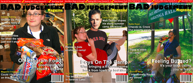 Bad Judgment Magazine covers